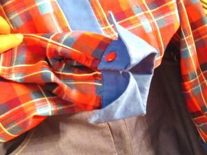 Dettaglio camicia realizzata al corso di taglio e cucito a Padova